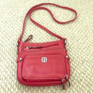 Giani Bernini Red Leather Shoulder or Crossbody